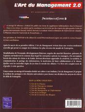 L'Art Du Management 2.0. Tous Les Grands Principes Du Management Moderne En Un Seul Volume... - 4ème de couverture - Format classique