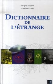 Dictionnaire de l'étrange - Intérieur - Format classique