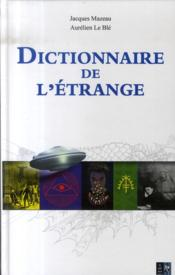 Dictionnaire de l'étrange - Couverture - Format classique