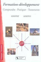 Formation-développement ; comprendre, pratiquer, transmettre - Intérieur - Format classique