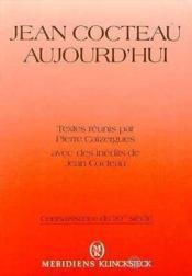 Jean Cocteau Aujourd'Hui - Couverture - Format classique