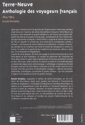 Terre Neuve - 4ème de couverture - Format classique