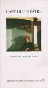 L'art du theatre automne 1985 - hiver 1986 nos 2/3 - Couverture - Format classique