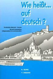 Wie heisst auf deutsch - Intérieur - Format classique