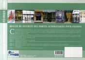 Règles de sécurité des portes automatiques pour piétons. guide technique de conception et d'installation - 4ème de couverture - Format classique