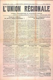 Union Regionale (L') N°1162 du 07/12/1940 - Couverture - Format classique