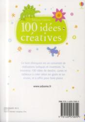 100 idées créativés - 4ème de couverture - Format classique