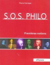 S.O.S. Philo Premieres Notions - Intérieur - Format classique