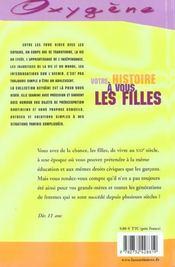Votre Histoire A Vous, Les Filles - 4ème de couverture - Format classique