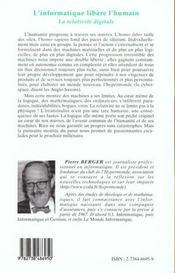 L'Informatique Libere L'Humain ; La Relativite Digitale - 4ème de couverture - Format classique