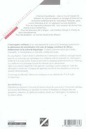 Interrogative Enchassee (L') - 4ème de couverture - Format classique