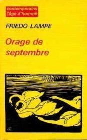 Orage De Septembre - Couverture - Format classique