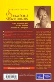La Stratégie A Visage Humain. Des Processus Bâtis Sur Les Hommes Au Coeur De L'Entreprise - 4ème de couverture - Format classique
