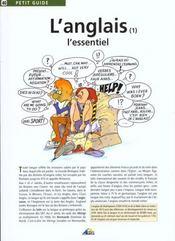 Petit Guide T.40 ; L'Anglais T.1 ; L'Essentiel - Intérieur - Format classique