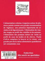 Le régime crétois - 4ème de couverture - Format classique