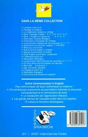 Active communication in english - 4ème de couverture - Format classique
