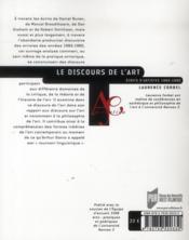 Le discours de l'art ; écrits d'artistes 1960-1980 - 4ème de couverture - Format classique