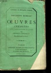 OEUVRES INEDITES Avec Introduction et Notes Par Armand Lebailly. - Couverture - Format classique