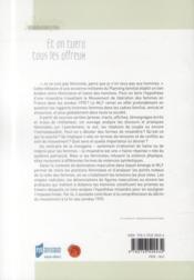 Et on tuera tous les affreux ; le féminisme au risque de la misandrie (1970-1980) - 4ème de couverture - Format classique
