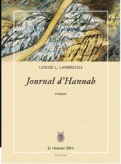 Vente  Journal d'Hannah  - Louise L. Lambrichs