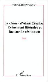 Le cahier d'aimé césaire ; évènement littéraire - Couverture - Format classique