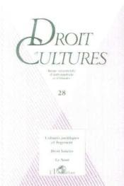 Cultures Juridiques Et Jugement, Droit Foncier, Le Nom - Couverture - Format classique