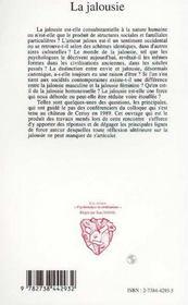 La Jalousie - 4ème de couverture - Format classique