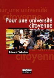 Pour une universite citoyenne - Couverture - Format classique