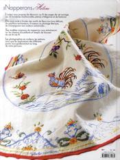 Les napperons d'hélène ; 30 modèles originaux - 4ème de couverture - Format classique