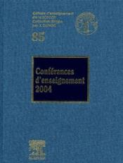Conférences d'enseignement (édition 2004) - Couverture - Format classique