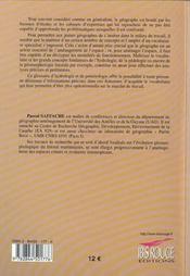 Glossaire d'hydrologie et de potamologie - 4ème de couverture - Format classique
