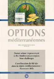 Durum wheat improvement in the mediterranean region ; new challenges - Couverture - Format classique
