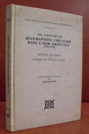 Les aventures de jean-baptiste chevalier dans l'inde orientale (1752-1765). memoire hist et journal - Couverture - Format classique