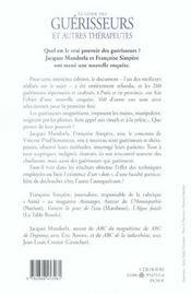 Le Guide Des Guerisseurs Et Autres Therapeutes - 4ème de couverture - Format classique