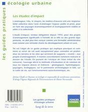 Les etudes d'impact - 4ème de couverture - Format classique