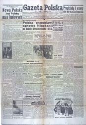 Gazeta Polska N°85 du 14/04/1946 - Couverture - Format classique
