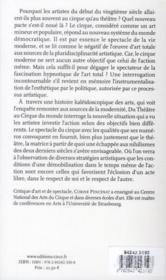 Le cirque du monde ; entretien entre Daniel Payot et Corine Pencenat - 4ème de couverture - Format classique