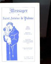 Messager De Saint Antoine De Padoue N°883 - Revue Religieuse Bimestrielle 96e Annee - Couverture - Format classique
