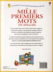 Les mille premiers mots en anglais - 4ème de couverture - Format classique