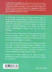 Ecarts De Conduite Securite Routiere Et Psychopathologie - 4ème de couverture - Format classique