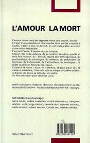 L'Amour, La Mort - 4ème de couverture - Format classique