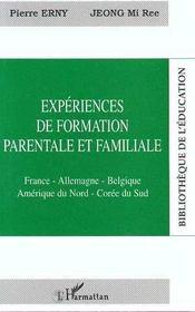 Experiences De Formation Parentale Et Familiale - Intérieur - Format classique