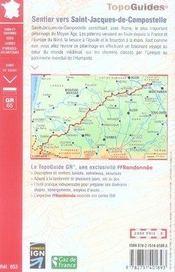 St jacques de compostelle, moissac, ronce 32-40-64-82 gr65-06 - 4ème de couverture - Format classique