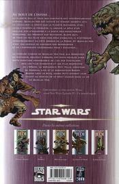 Star Wars - Jedi t.5 ; au bout de l'infini - 4ème de couverture - Format classique