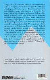 Homme Et Le Sel. Reflexions Sur L'Histoire Humaine Et L'Evolution De La Medecine (L') - 4ème de couverture - Format classique