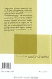 Correct/Incorrect En Linguistique Anglaise - 4ème de couverture - Format classique