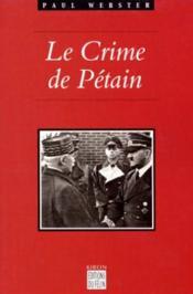 Les Crimes De Petain - Couverture - Format classique