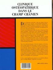 Clinique Osteopathique Dans Le Champ Cranien ; Les Grands Textes Fondateurs - 4ème de couverture - Format classique