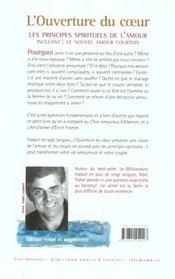 Ouverture Du Coeur - 4ème de couverture - Format classique