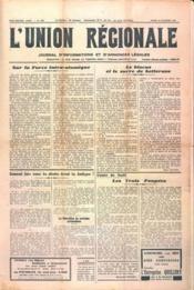 Union Regionale (L') N°1165 du 28/12/1940 - Couverture - Format classique